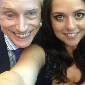 Karen Danczuk gives yours truly a lesson in how to take a selfie.